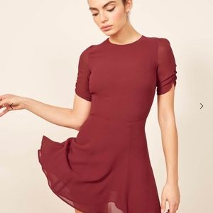 NWT Reformation Garnet Gracie Dress